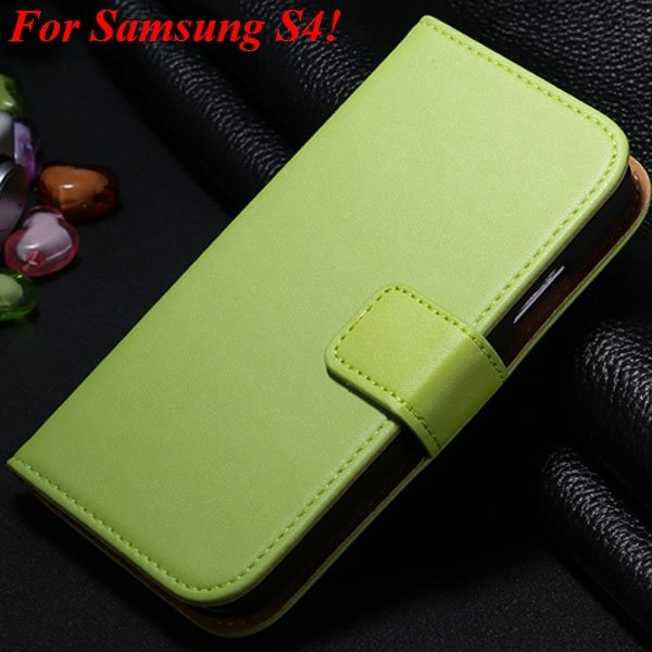S3 S4 Genuine Leather Stand Case For Samsung Galaxy S3 Siii I9300  1335833839-12-green for S4