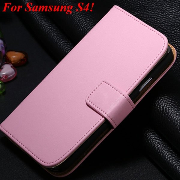 S3 S4 Genuine Leather Stand Case For Samsung Galaxy S3 Siii I9300  1335833839-13-pink for S4