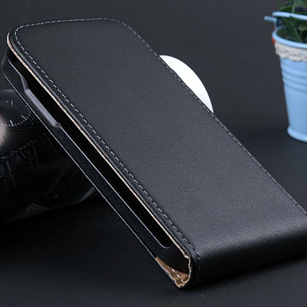 S4 Mini Genuine Leather Case Full Protect Cover For Samsung Galaxy 32239970117-1-black