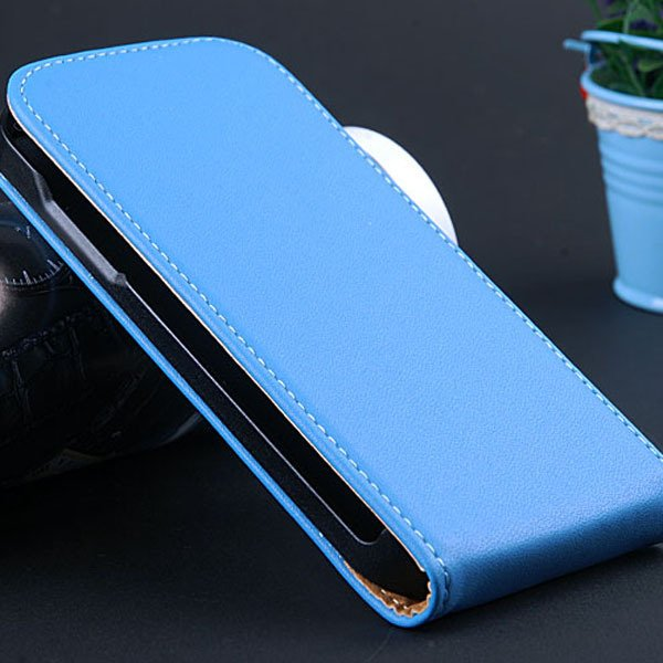 S4 Mini Genuine Leather Case Full Protect Cover For Samsung Galaxy 32239970117-2-blue