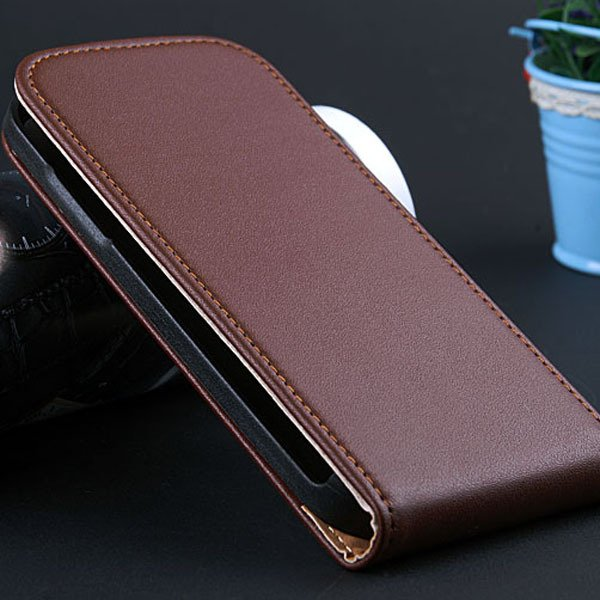 S4 Mini Genuine Leather Case Full Protect Cover For Samsung Galaxy 32239970117-3-brown
