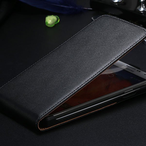 New For Note 2 Genuine Leather Flip Case For Samsung Galaxy Note 2 1855062541-1-black