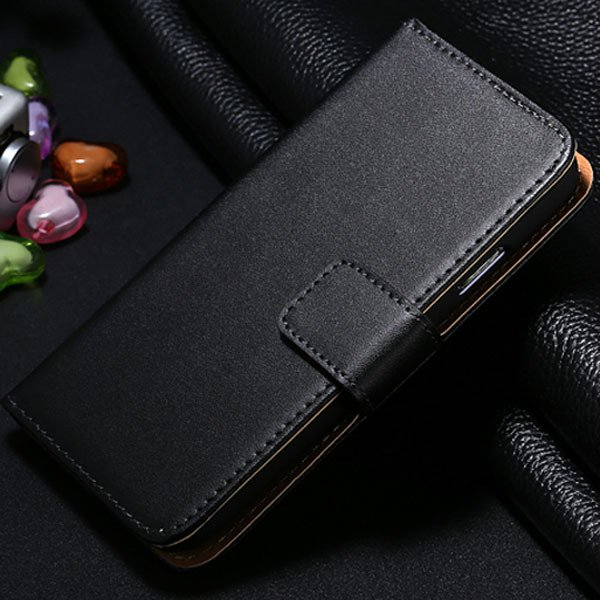 S4 Genuine Leather Case Flip Wallet Cover For Samsung Galaxy S4 Si 1772230456-1-black