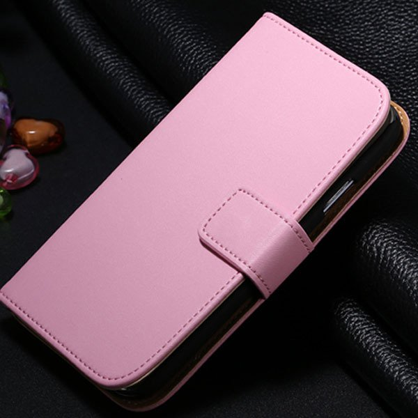 S4 Genuine Leather Case Flip Wallet Cover For Samsung Galaxy S4 Si 1772230456-5-pink