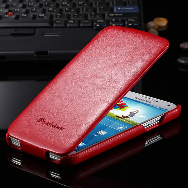 S5 Pu Leather Case Retro Flip Cover With Magnetic Buckle For Samsu 2024373909-3-red