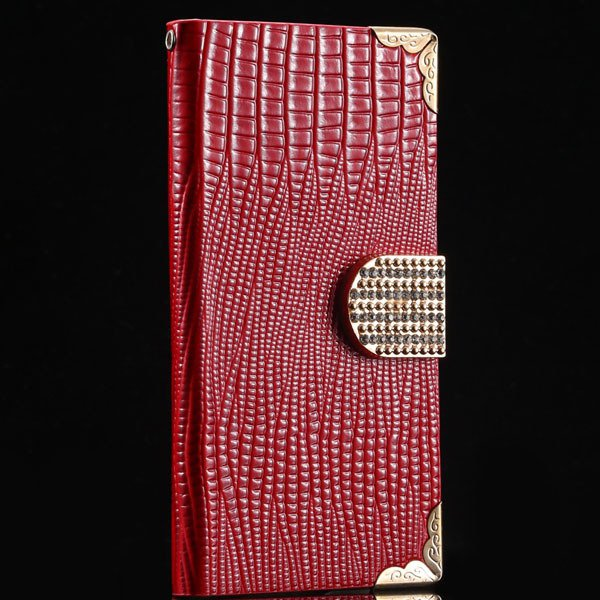 S4 Luxury Bling Diamond Case Full Wallet Book Cover With Shiny Rhi 1999249029-4-red
