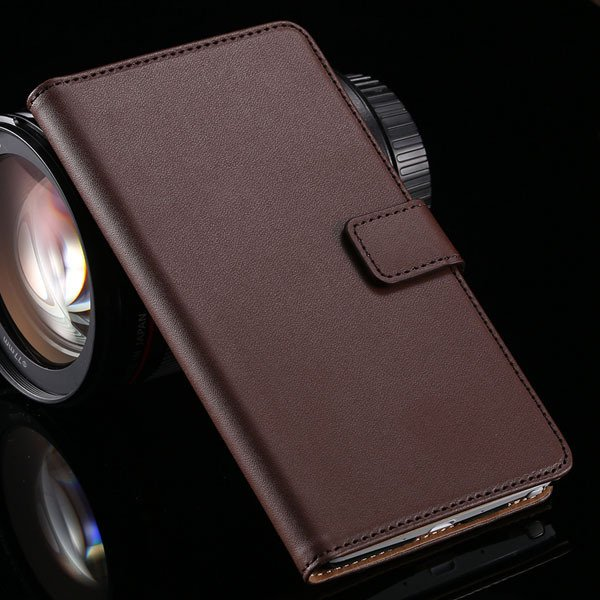 For Note 4 Genuine Leather Case Luxury Flip Wallet Cover For Samsu 32217799011-5-brown