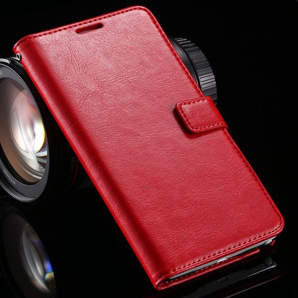 For Note 4 Pu Leather Case Full Wallet Stand Cover For Samsung Gal 32218516680-3-red