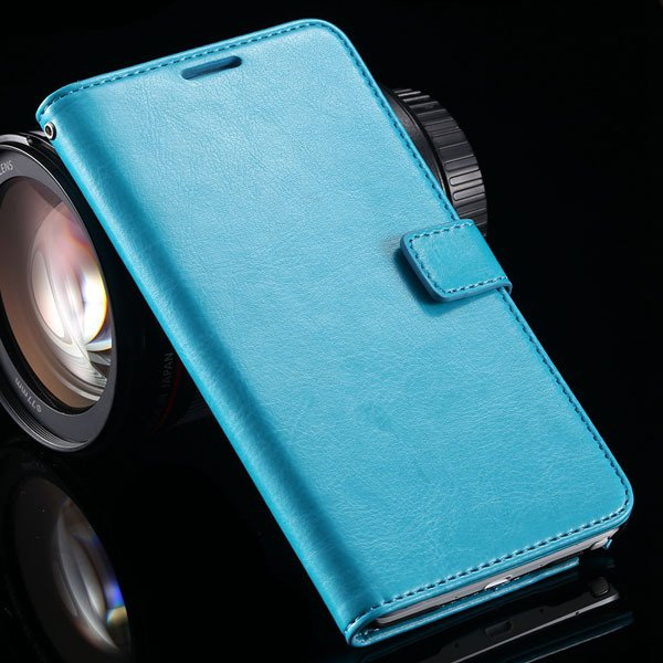For Note 4 Pu Leather Case Full Wallet Stand Cover For Samsung Gal 32218516680-4-blue