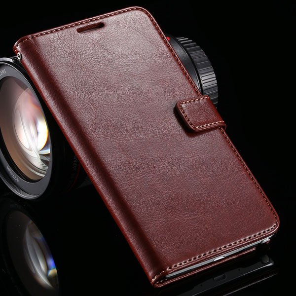 For Note 4 Pu Leather Case Full Wallet Stand Cover For Samsung Gal 32218516680-6-brown