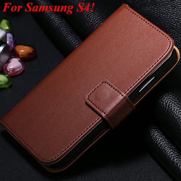 S4 S5 Flip Genuine Leather Case For Samsung Galaxy S5 I9600 For Ga 1820394140-6-brown for S4