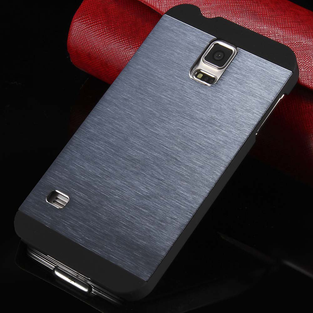 S5 Luxury Aluminum Case Shiny Metal Brush Back Cover For Samsung G 32251264022-3-navy