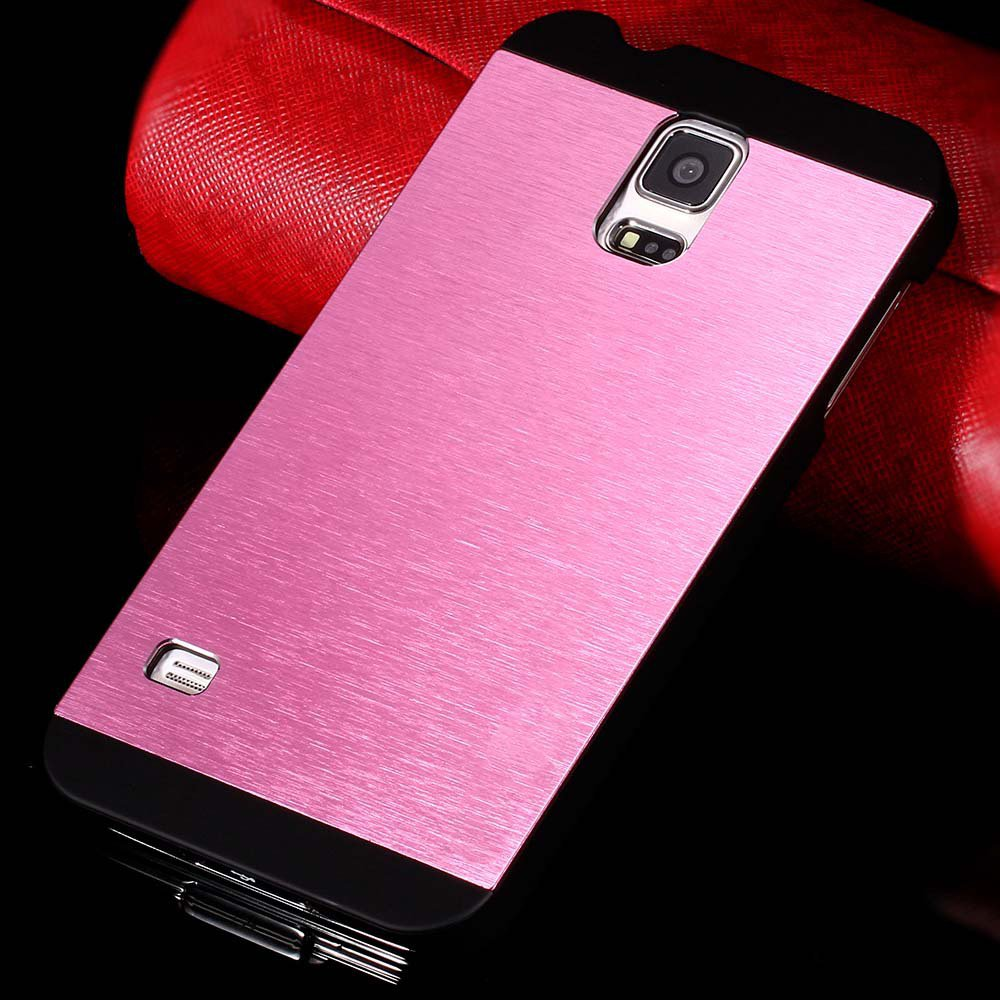 S5 Luxury Aluminum Case Shiny Metal Brush Back Cover For Samsung G 32251264022-6-pink