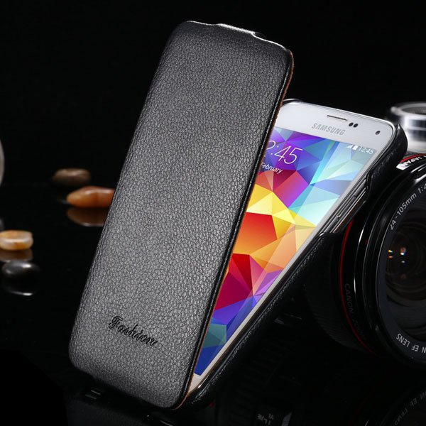 Brand New Genuine Leather Case For Samsung Galaxy S5 Sv I9600 Retr 1893446774-1-black