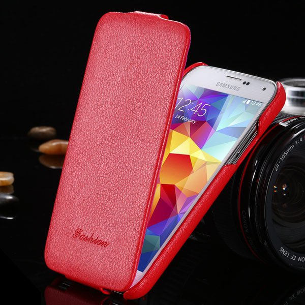 Brand New Genuine Leather Case For Samsung Galaxy S5 Sv I9600 Retr 1893446774-3-red
