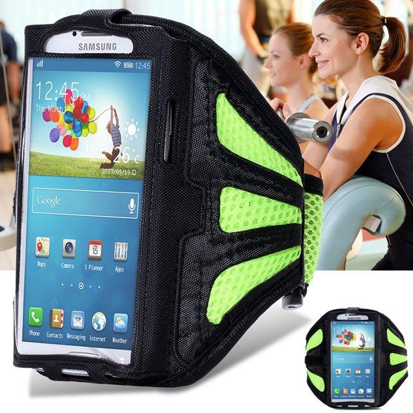 Fresh Green Breath Hole Running Sport Arm Band For Samsung Galaxy  32247735900-1-