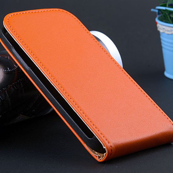 S4 Mini Flip Leather Case For Samsung Galaxy S4 Mini I9195 I9190 G 32240035795-5-orange
