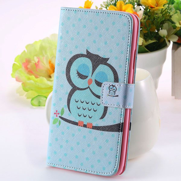 Matte Grain Full Wallet Pu Leather Case For Samsung Galaxy Note 3  1925879807-1-sky blue owl