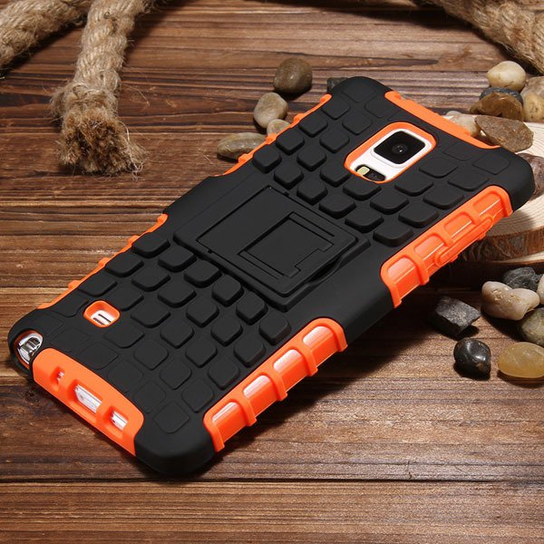 For Note 4 Heavy Duty Case Armor Cover For Samsung Galaxy Note 4 I 32273909003-3-orange