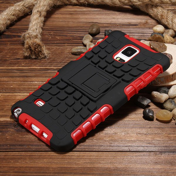 For Note 4 Heavy Duty Case Armor Cover For Samsung Galaxy Note 4 I 32273909003-4-red