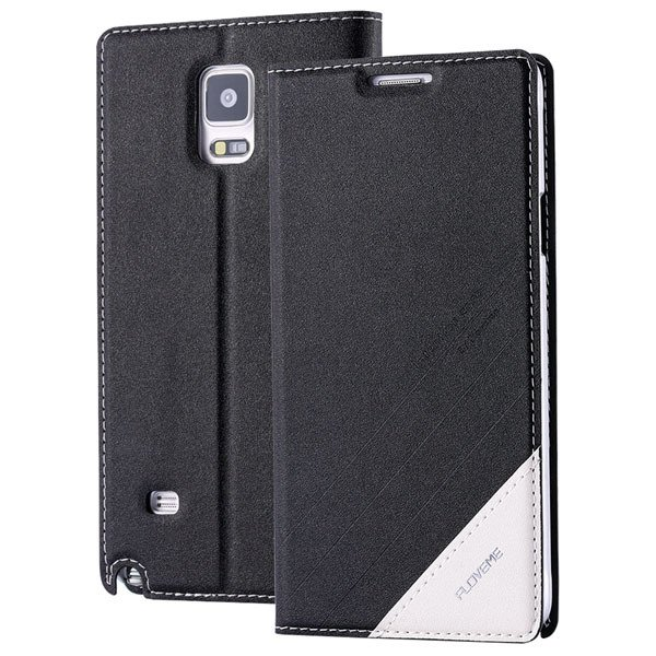 For Note 4 Magnetic Flip Case Original Pu Leather Handmade Cover F 32266173439-1-black