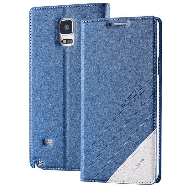 For Note 4 Magnetic Flip Case Original Pu Leather Handmade Cover F 32266173439-2-blue