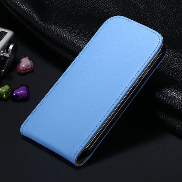 S4 Genuine Leather Case Flip Vertical Cover For Samsung Galaxy S4  1790455093-6-blue