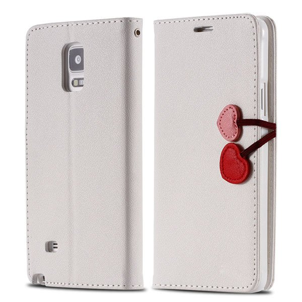 Heart Magnetic Buckle Flip Case For Samsung Galaxy Note 4 Cell Pho 32242580594-3-white