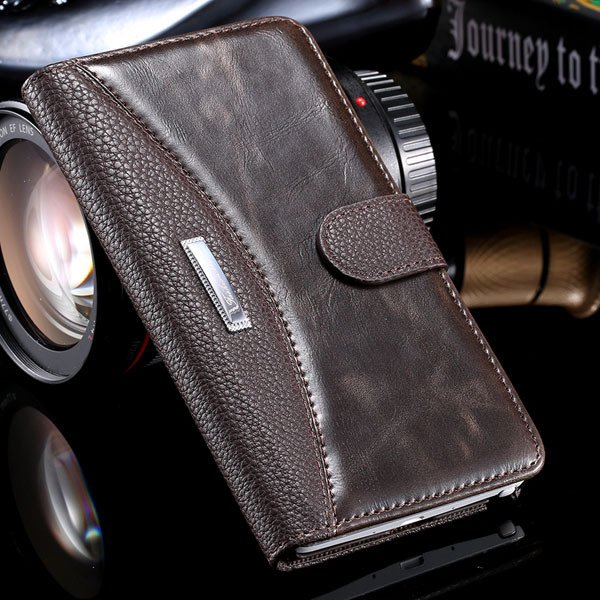 Bussiness Fashion Full Cover For Samsung Galaxy Note 4 N9100 Leath 32249447832-4-brown