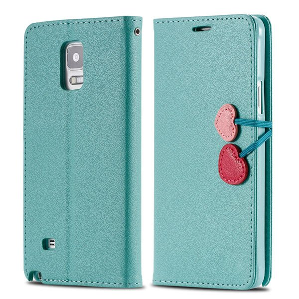 Heart Buckle Full Cover For Samsung Galaxy Note 4 N9100 Phone Case 32242191249-5-mint
