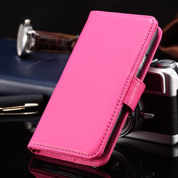 S5 Full Case For Samsung Galaxy S5 I9600 Photo Frame Wallet Book S 1747321783-3-hot pink