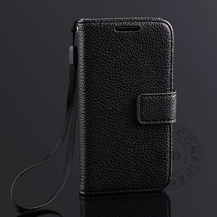 S4 Mini Lychee Pattern Leather Case For Samsung Galaxy S4 Mini I91 1274029657-1-Black