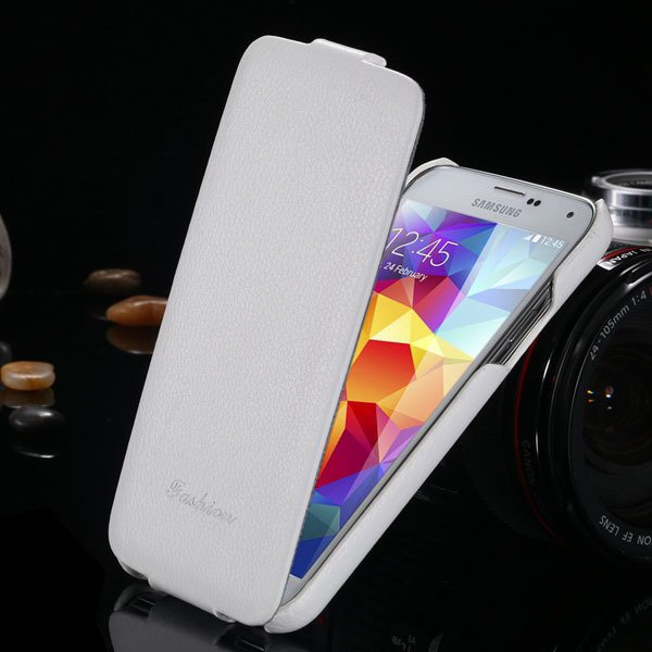 Top Quality Genuine Case For Samsung Galaxy S5 Sv I9600 Lytchi Gra 1893525510-2-white