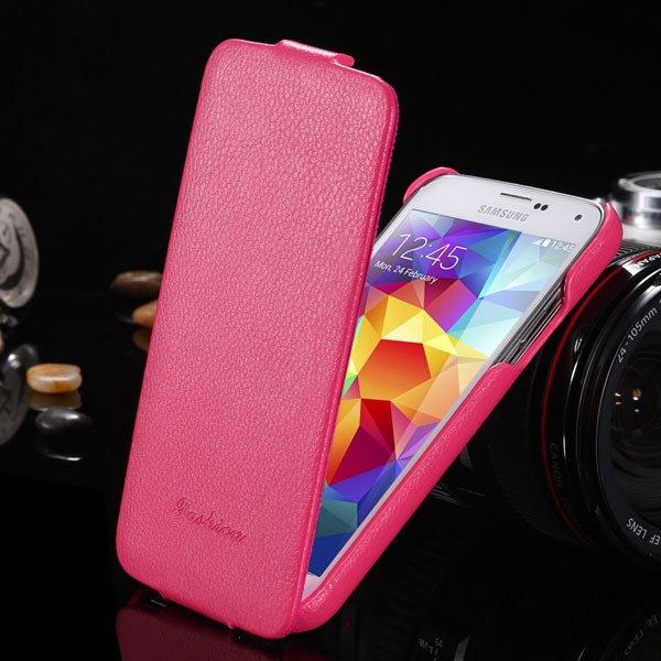 Top Quality Genuine Case For Samsung Galaxy S5 Sv I9600 Lytchi Gra 1893525510-4-hot pink