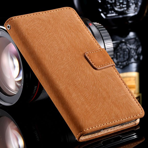 S5 Stand Case Flip Phone Cover For Samsung Galaxy S5 Sv I9600 Full 32261600083-2-brown