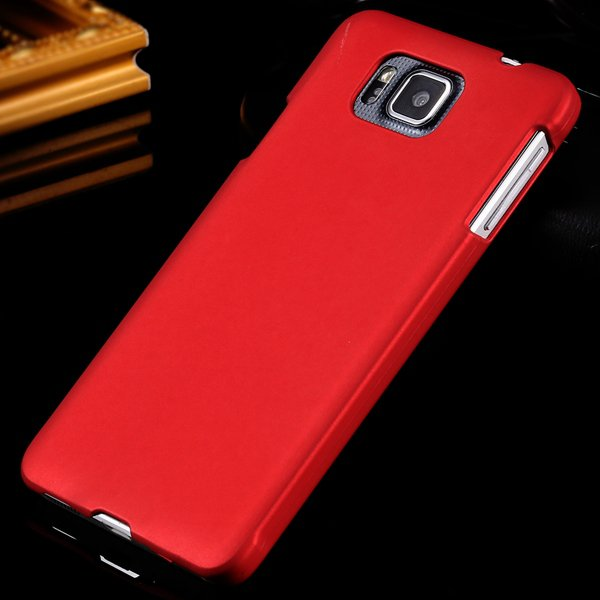 For Alpha G850 Back Case Lubricating Mat Pc Hard Cover For Samsung 32281540556-2-red