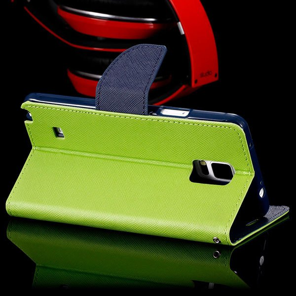 For Note 4 Flip Wallet Cover For Samsung Galaxy Note 4 N9100 Full  32260100946-8-green