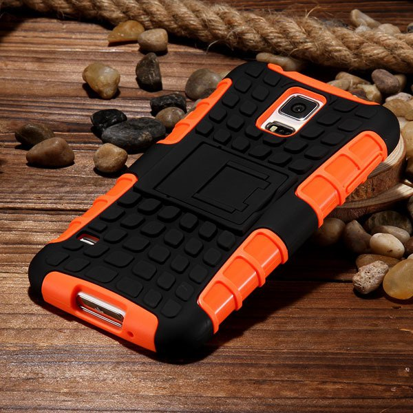 S5 Heavy Duty Case Armor Cover For Samsung Galaxy S5 Sv I9600 G900 32273877350-5-orange