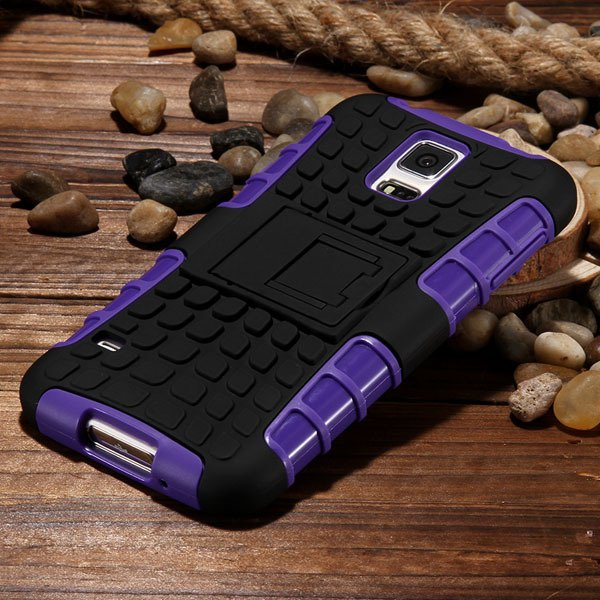S5 Heavy Duty Case Armor Cover For Samsung Galaxy S5 Sv I9600 G900 32273877350-6-purple