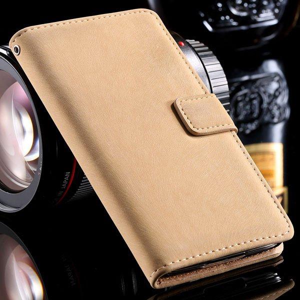 S5 Flip Case Premium Full Cover For Samsung Galaxy S5 Sv I9600 Sha 32261153054-4-beige