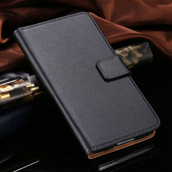 S5 Flip Cell Phone Case Genuine Leather Cover For Samsung Galaxy S 1807291607-1-black