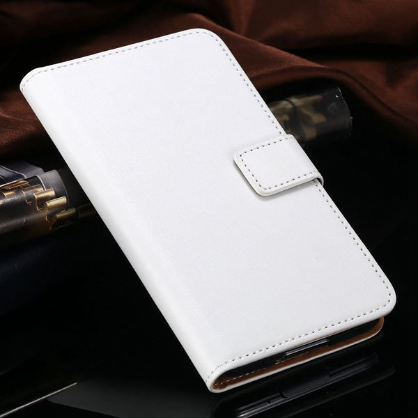 S5 Flip Cell Phone Case Genuine Leather Cover For Samsung Galaxy S 1807291607-2-white