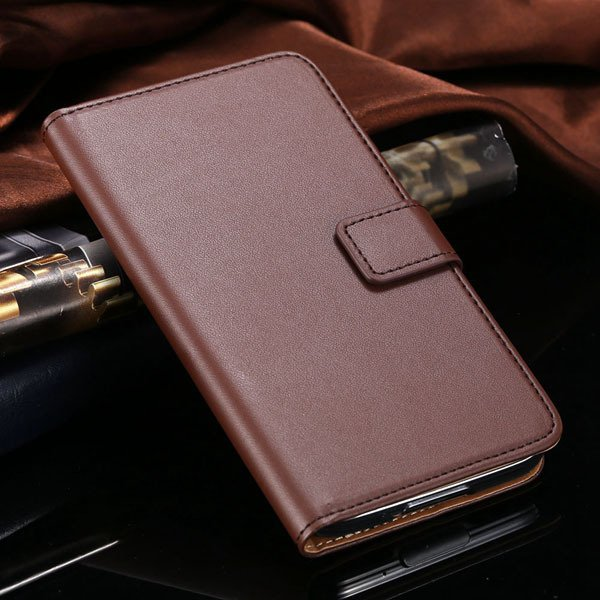 S5 Flip Cell Phone Case Genuine Leather Cover For Samsung Galaxy S 1807291607-4-brown