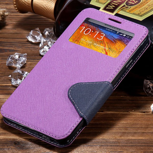 For Note 3 View Case Flip Cell Phone Cover For Samsung Galaxy Note 1961185459-4-purple