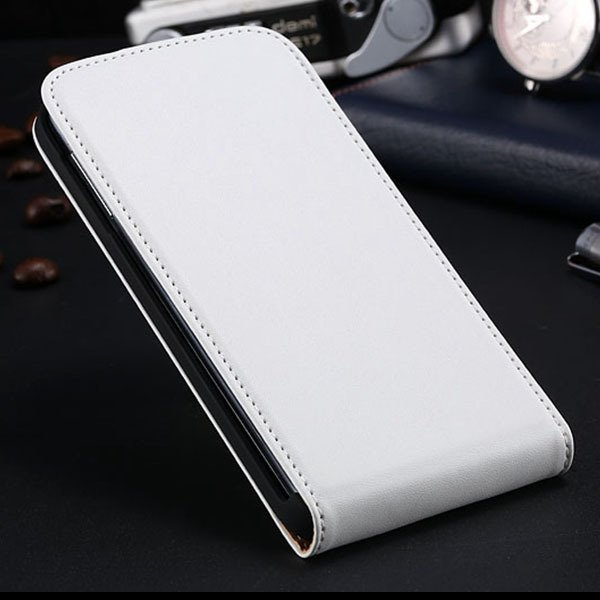 S5 Flip Real Leather Case For Samsung Galaxy S5 I9600 Full Protect 1790067218-2-white