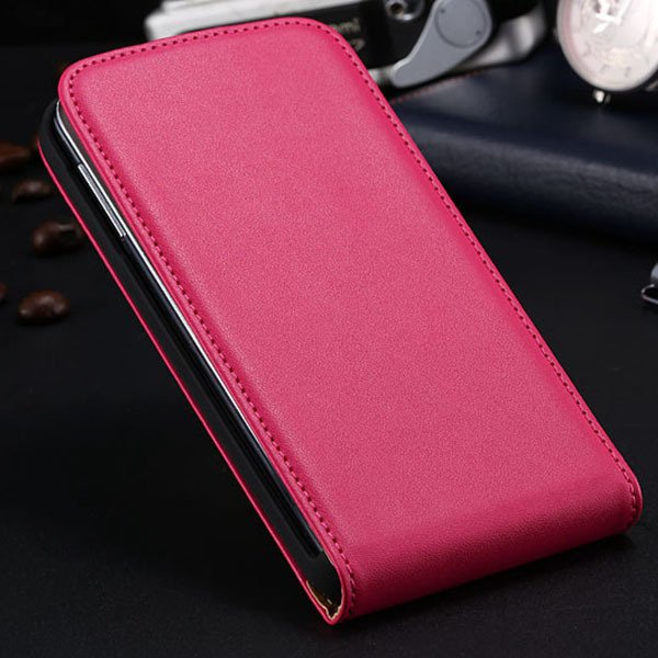 S5 Flip Real Leather Case For Samsung Galaxy S5 I9600 Full Protect 1790067218-4-hot pink