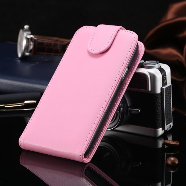 S5 Vertical Flip Case For Samsung Galaxy S5 I9600 Cover Pu Leather 1760121311-2-pink