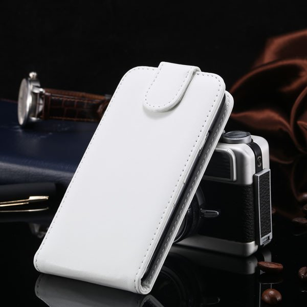 S5 Vertical Flip Case For Samsung Galaxy S5 I9600 Cover Pu Leather 1760121311-3-white