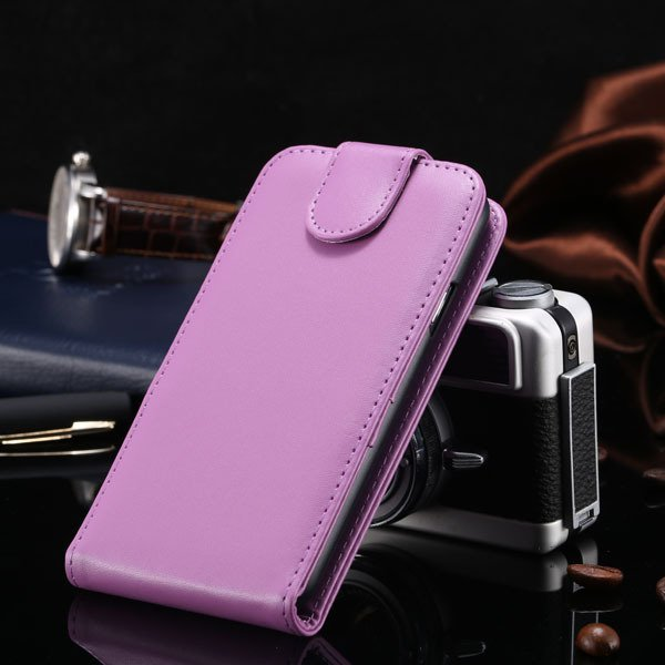 S5 Vertical Flip Case For Samsung Galaxy S5 I9600 Cover Pu Leather 1760121311-7-purple