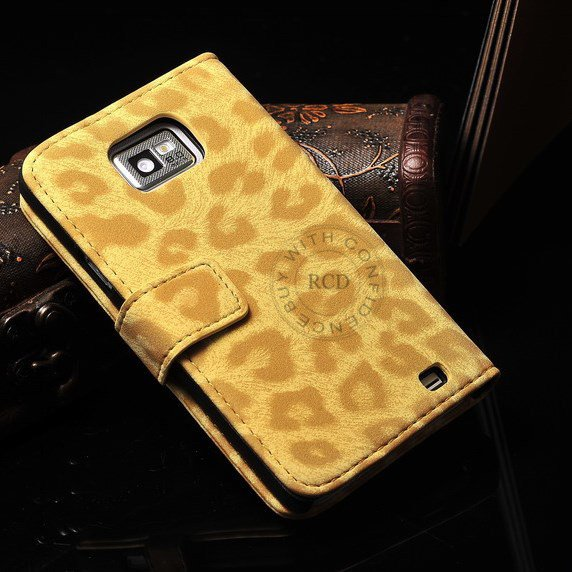 High Quality Leopard Pattern For Samsung Galaxy S2 Sii I9100 Pu Le 1064100672-1-yellow